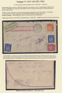 LZ126 ZEPPELIN FLIGHT COVER GERMANY - CANADA USS LOS ANGELES ZR3 HV9218