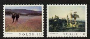 Norway 704-5 MNH Art, Paintings, Lanscape