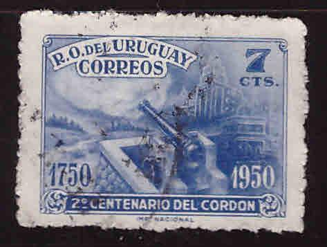 Uruguay Scott 583 Used stamp
