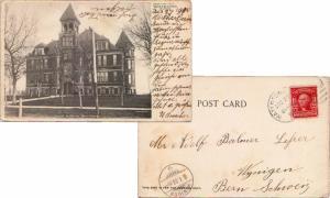 United States South Dakota Watertown 1906 numeral duplex  2c Washington Shiel...