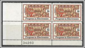 US Plate Block #1501 Electronics Progress MNH
