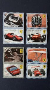 Cars - Ferrari - Antigua and Barbuda 2010 - Complete set ** MNH