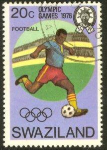 SWAZILAND 1976 20c MONTREAL OLYMPICS SOCCER Issue Sc 267 VFU