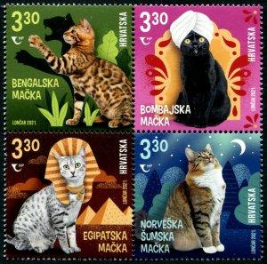 HERRICKSTAMP NEW ISSSUES CROATIA Cats 2021 Block of 4