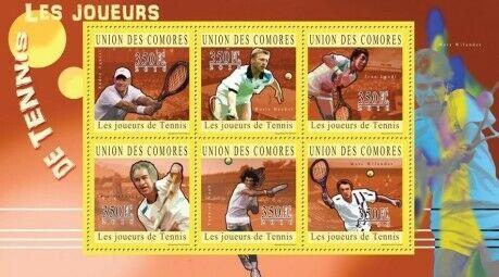 Comoros Island MNH S/S Famous Tennis Players 2010