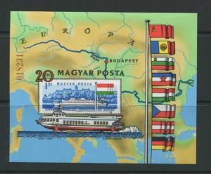 Hungary 1981 Sheet Sc 2696 Mi Block 150B MNH Imperf.  WIPA Exhibition Seals C...