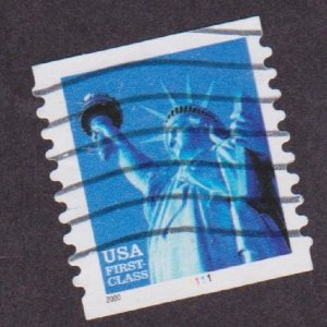 US #3453 Liberty Used PNC Single plate #1111