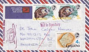 Lesotho to Washington, DC, 1978 RTS, (8097)
