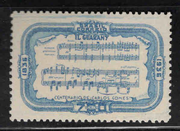 Brazil Scott 425 MH* 1936 Music stamp