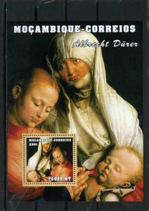 MOZAMBIQUE 2001 Sc#1498 PAINTINGS BY ALBRECHT DURER S/S MNH