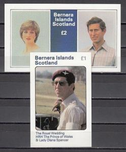 Bernera Is. 1981 Local issue. Diana`s Royal Wedding s/sheets.