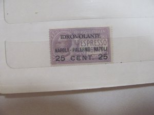 Italy Airmail stamp C2 mlh   1917