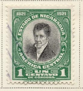 Nicaragua 1921 Early Issue Fine Used 1c. 323644