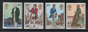 Great Britain Sc 871-4 1979 Sir Rowland Hill stamp set mint NH