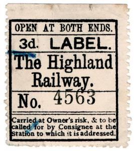 (I.B) The Highland Railway : Newspaper Parcel 3d