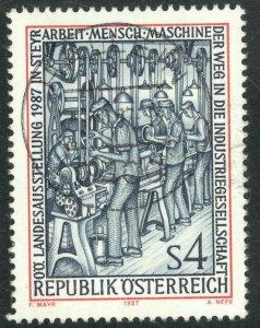 AUSTRIA 1987 WORK MEN AND MACHINES EXHIBIT Issue Sc 1393 VFU