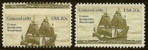 2040 - Huge Misperf Error / EFO German Immigration Mint NH