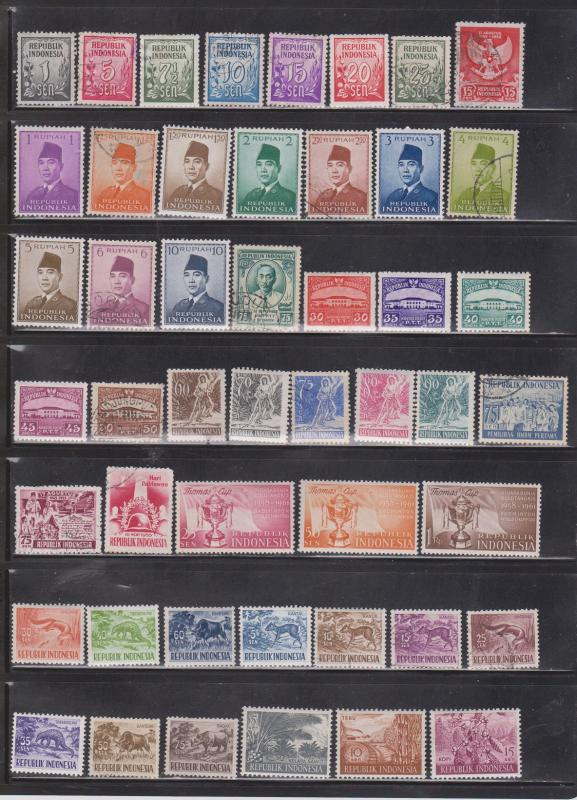 INDONESIA - Collection Of Mostly Mint Hinged  Issues - CV Over $100.00