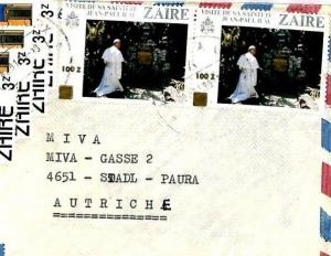 Zaire Cover 1999 INFLATION SURCHARGE Missionary Vehicles Air Mail MIVA CM9