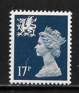 Great Britain Wales WMMH31 17p Machin MNH