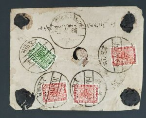 Nepal Kathmandu Classic Seals Handwritten Nepali Wax Seal Multi Franking Cover