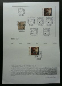 Portugal 5 Centuries Tile in Portugal XVIII 1985 Tegels (stamp on info sheet)