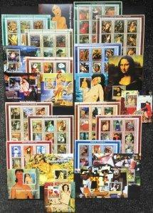 KS 2001 GUINEA-BISSAU ART PAINTINGS #1600-1701 MICHEL 215 € 12BL+12KB MNH