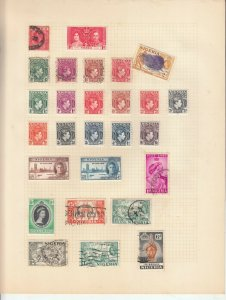 NIGERIA ALBUM PAGE  VALUES MOSTLY 1937-55, MOUNTED MINT /USED