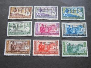 French Equatorial Africa 1941 Sc 133-41 set MH
