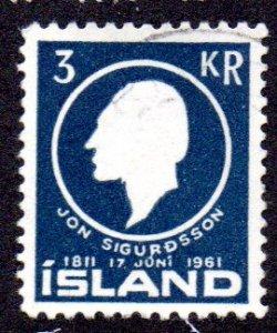 ICELAND 336 USED BIN $1.00 POLITICIAN