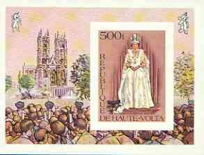 Upper Volta 1977 Silver Jubilee 500f imperf m/sheet from ...