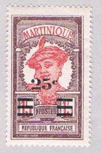 Martinique 120 MLH Surcharge 1924 (BP53516)