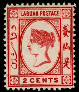 LABUAN SG30, 2c rose-red, M MINT.