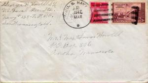 United States Fleet Post Office 2c Nations United and 3c Kearny Expedition 19...