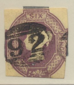 Great Britain Stamp Scott #7b, Used - Free U.S. Shipping, Free Worldwide Ship...