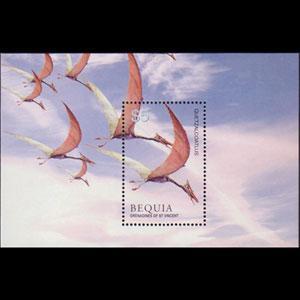 ST.VINCENT-BEQUIA 2005 - Scott# 373 S/S Dinosaurs NH