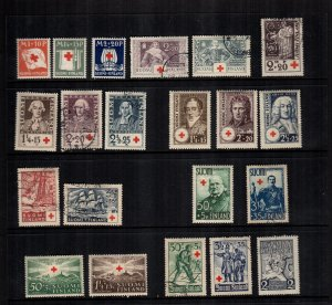 Finland  Mint hinged and used lot of 21 cat $61.00