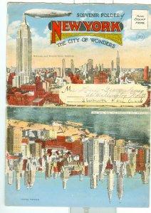 NEW YORK OLD SOUVENIR FOLDER with 20 VIEWS incl. ZEPPELIN  CARDS