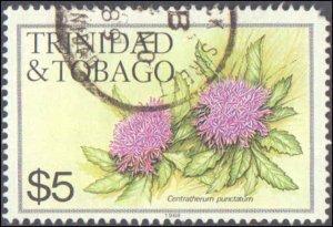 Trindad & Tobago #406, Incomplete Set, 1983, Flowers, Used
