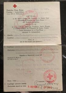 1942 Guernsey Channel Island British Prisoner of War Letter Cover Red Cross POW