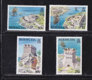 Bermuda # 429-432, Forts, Mint NH, 1/2 Cat.