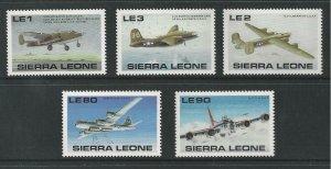 Sierra Leone MNH Set World War II Airplanes