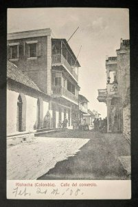 1908 Calle Del Comercio Riohacha Columbia St Louis Real Picture Postcard Cover