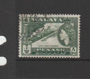Malaya Penang, 1957  Defs 8c FU SG 48