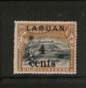 Malaya S. Setts. Labuan 1904 Sc 114 MNH