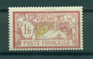 French Offices in Egypt Port Said sc# 30 mh cat val $13.00