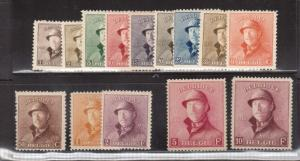Belgium #124 - #137 VF Mint Set