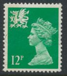 Great Britain Wales  SG W36 SC# WMMH18 Used  see scan 1 left side band