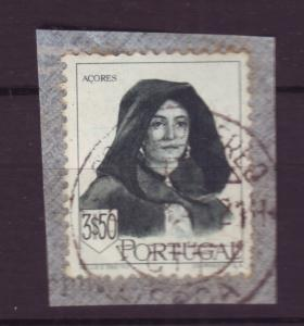 J18490 JLs stamps 1947 portugal hv of set used on piece #682 woman