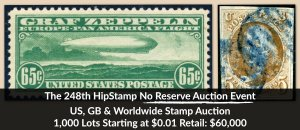 The 248th HipStamp No Reserve Auction Event